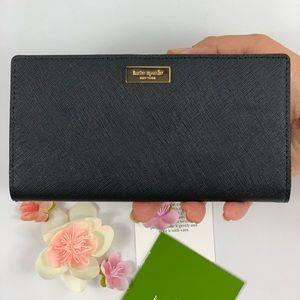 Kate Spade Stacy Laurel Signature Black Wallet